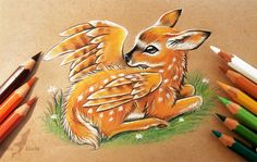 Winged fawn by AlviaAlcedo.deviantart.com on @DeviantArt