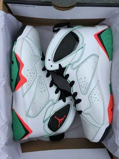 huge selection of 2eabb 54a9c 2018 Cheap Priced Air Jordan 7 Men Verde White Black Verde Infrared 23  Poison Green Size