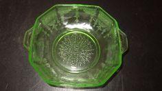 VTG Green Uranium Depression Vaseline Glass Floral Small Dish Bowl | Pottery & Glass, Glass, Glassware | eBay!