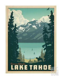 Lake Tahoe Art Print by Anderson Design Group at Art.com