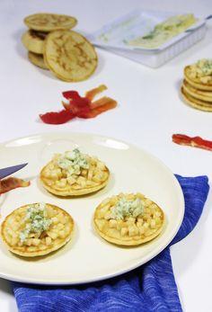 Blinis pommes et roquefort pour l'apéritif  Sucré salé Apéro Photos culinaires