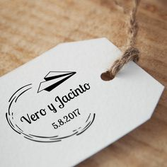 Sello de boda Avión de Papel Place Cards, Stamps, Place Card Holders, Nice, Party, Wedding, Wedding Stamps, Wedding Tags, Custom Stamps