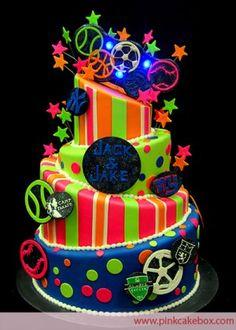 Mitzvah Inspire: Neon Cake Pink Cake Box