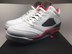 separation shoes de0be 7d281 Nike Air Jordan 5 Retro Low 819171-101 White Fire Red-Black Men size 11.5  shoes  Nike  BasketballShoes