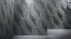 NUANCE - pareti tridimensionali in pietra naturale - SCORCIO | Lithos Design