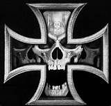 Iron Cross Skull iron cross t-shirt Piston Tattoo, Truck Window Stickers, Skull Coloring Pages, Skull Jewelry, Skull And Bones, Forearm Tattoos, Tattoo Sketches, Cool Logo, Skull Art