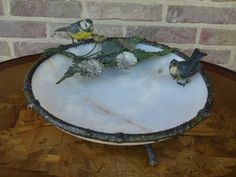 A lovely Vienna bronze cold painted centerpiece with birds and alabaster from Discover more beautiful items from Johan Doomen's collection, a professional Belgian antique dealer, on Transferantique. Vienna, Centerpieces, Bronze, Birds, Cold, Antiques, Outdoor Decor, Beautiful, Collection