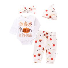Girls Clothing Sets Halloween Costume Cute Girls Bodysuits Jumpsuits Rompers Pumpkin Long Sleeve Cartoon Print Party Dress 0-4 Years Toddler Infant Dresses Outfits Set