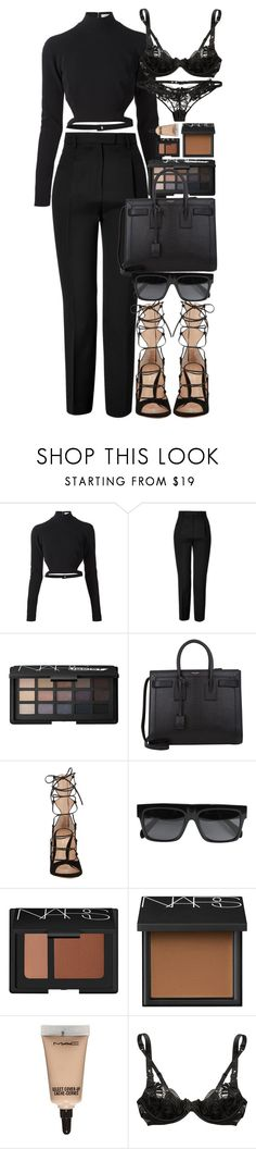 The only advantage of not being too good a housekeeper is that your guests are so pleased to feel how very much better they are. by quiche ❤ liked on Polyvore featuring Thierry Mugler, Emilio Pucci, NARS Cosmetics, Yves Saint Laurent, Gianvito Rossi, CÉLINE, MAC Cosmetics and Agent Provocateur