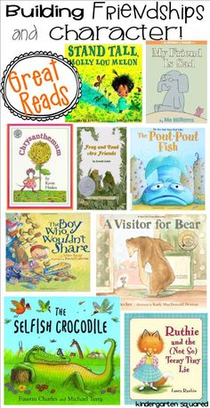 Summaries of some great back to school books that help you build your class community!: Summaries of some great back to school books that help you build your class community! Preschool Books, Book Activities, Preschool Bulletin, Sequencing Activities, Friendship Theme, Preschool Friendship, Friendship Lessons, Friendship Activities, Character Education