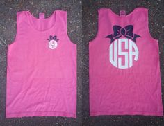 USA Bow Comfort Colors Tank by embellishboutiquellc on Etsy, $14.99