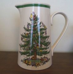 Spode Christmas Tree Large 3 Pint 1.7 Litre Jug Pitcher Juice Water