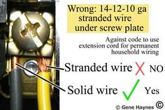 Color code for residential wire/ how to match wire size and circuit breaker Home Electrical Wiring, Electrical Code, Electrical Projects, Electrical Engineering, Residential Wiring, Outdoor Box, Volt Ampere