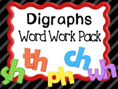 Digraphs SH CH WH PH TH Bundle Word Work Pack from scissorsandcrayons on TeachersNotebook.com -  (61 pages)  - Digraphs SH CH WH PH TH Bundle Word Work Pack This is a complete set with classroom displays, centers, games, morning messages and printables to reinforce the h brother digraphs.