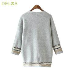 DELOS Women Cardigan Sweater Vintage Cardigans 2016 Womens Fashion Spring Half…