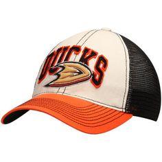 new style 14f2d ae13f Anaheim Ducks Reebok Face-Off Slouch Flex Hat - White Black