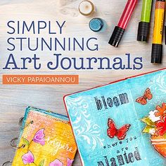 Exciting news! My #artjournal class at @becraftsy is available! Visit my blog for the promo video and a 50% discount on the class! Link in profile! by vickyp_gr