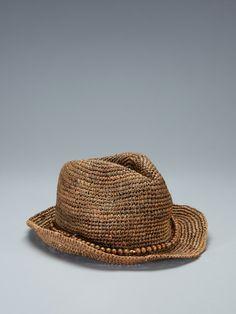 Hat Attack Raffia Crochet Fedora  Gilt Home #PinIntoSummer – Camp Cool
