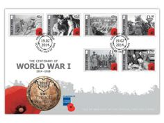 Our poppy-bearing first day cover features the full set of stamps depicting life in the trenches. Our World War 1 issues are produced in collaboration with the Royal British Legion Mans World, World War I, Our World, Royal British Legion, First Day Covers, Isle Of Man, One Day, Stamp Collecting, Military History