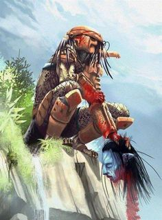 Predator hunts the Na'vi from Avatar...