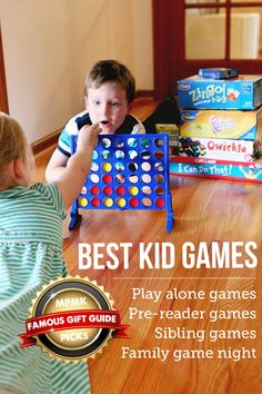 BEST GAMES FOR KIDS - Great picks for kids of all ages and there are recommended ages for each of the picks, which is super helpful. This is just one of 10 gift guides and I used them all for my Christmas shopping this year.