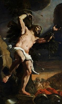 Mattia Preti. Italian (1613-1699). - St. Sebastian.17th.century. oil/canvas.