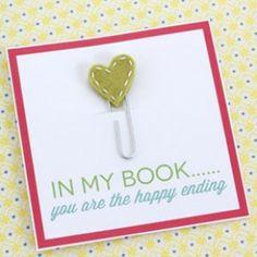 diy: puntos de libro para San Valentín  en mi libro es el final feliz