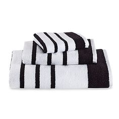 Buy Tesco Black White Stripe Bath Towel from our Bath Towels range