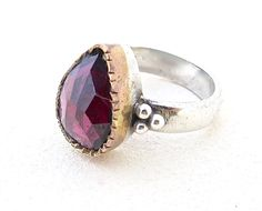 Red Stone Ring, Garnet Ring, Handmade Rings, Unique Jewelry, Beautiful Jewelry, Ring Design, Unique Rings, Classic Jewelry, Jewelry Gift by Lianie on Etsy https://www.etsy.com/listing/499460119/red-stone-ring-garnet-ring-handmade