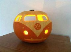 Pumpkin Hippie Van carving Idea maybe ? if you still want to with me