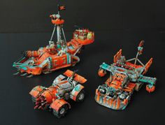 Grot Trukk Warhammer Figures, Warhammer Art, Warhammer 40k Miniatures, Warhammer 40000, Hover Bike, Orks 40k, Sci Fi Models, Skull And Crossbones, Paint Schemes