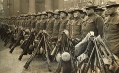 US Army troops prepare to deploy on the Western Front in WW1. Fresh, unscathed, well fed and with ample materiel, the Americans played the key role in the closing phase of the war as Germany and her allies quickly buckled under the bloodletting and the destruction of their economies.