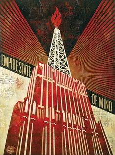 Empire State of Mind Mixed Media on Canvas