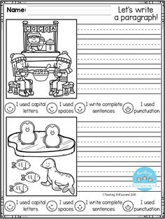 FREE First Grade Writing Activities FREE, Fun, creative narrative writing prompts for your first grade, second grade, and kindergarten students to build confidence in writing. Narrative Writing Prompts, Sentence Writing, Writing Lessons, Writing Resources, Writing Activities, First Grade Freebies, Free Kindergarten Worksheets, Kindergarten Writing, Teaching Writing