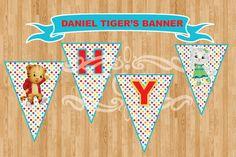 Daniel Tiger's Happy Birthday Banner. INSTANT by TOTI67
