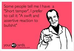 Short temper