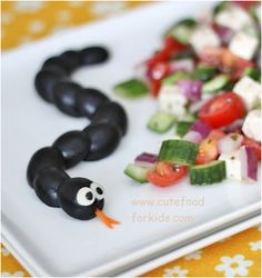 Olive snakes on a plate!