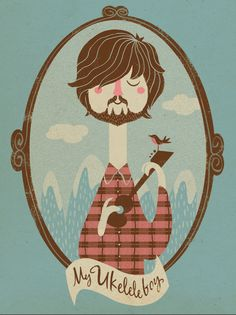 Ukelele Boys by La Perera , via Behance