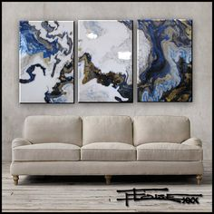 IMPERIAL GOLD - TRIPTYCH - Resin Coated Limited Edition - Affordable Large Scale Original and Limited Edition Paintings....ELOISE WORLD STUDIO 3 Piece Canvas Art, 3 Piece Painting, Painting Edges, Tree Canvas, Canvas Wall Art, Resin Wall Art, Tree Wall Art, Triptych, Studio