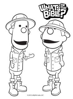 Clive & Ian Coloring Page - Whats in the Bible