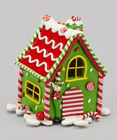 Take a look at this Green LED Gingerbread House Sculpture by Dennis East International on #zulily today!