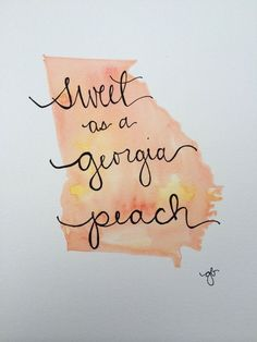 29c9a4efaf829 Sweet as a Georgia Peach by ginisis on Etsy Southern Girls