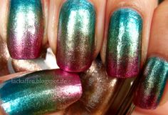 Lackaffen: Metallic Gradient Nails Tutorial