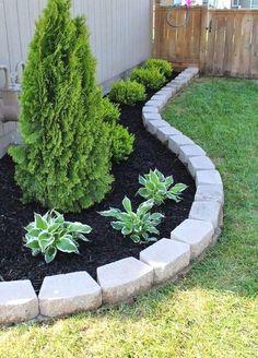 Front House Landscaping, Front Garden Landscape, House Landscape, Landscaping With Rocks, Modern Landscaping, Backyard Landscaping, Landscape Designs, Landscaping Design, Nice Backyard