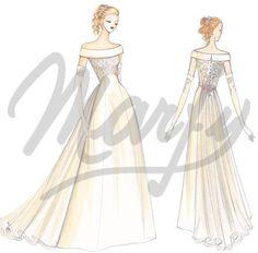 Model S622 | Wedding Dress Sewing Pattern