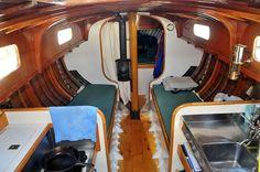 Inside Araminta sloop. I built the interior.