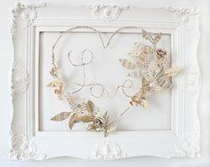 framed wire Love    idée pour mon cadre de première communion  1961