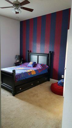 astounding soccer bedroom ideas | FC Barcelona bedroom. Kades 2nd favourite footy team after ...