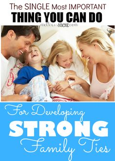 Creating Strong Family Ties is so important these days! **Laughter is in Our Family! Marriage And Family, Family Life, Parenting Advice, Kids And Parenting, Parenting Classes, Strong Family, Family Bonding, Family Night, Family Traditions