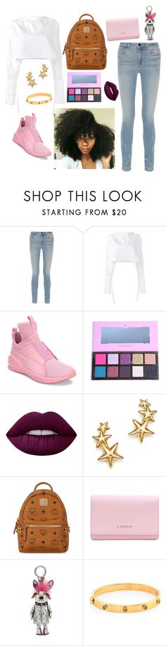 """""""Cry baby."""" by bunnisexy ❤ liked on Polyvore featuring Alexander Wang, E L L E R Y, Puma, Lime Crime, Bloomingdale's, MCM, Givenchy and Tory Burch"""